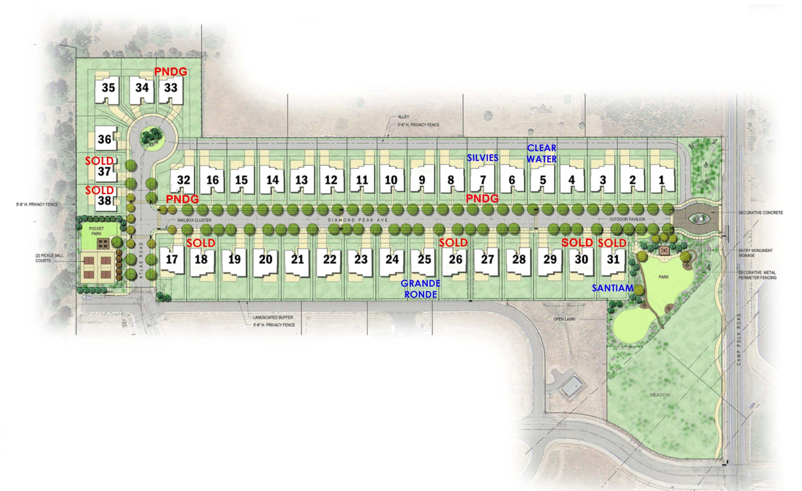 Grand Peaks Development Site Map